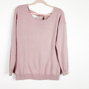Just Fabulous Pink Long Sleeve Scoop Neck Sweater